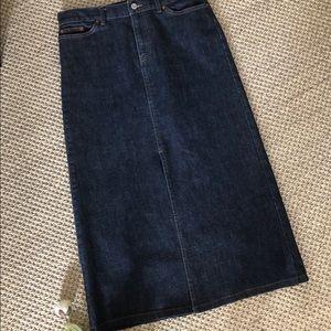 GAP Jeans Long Denim Maxi Skirt